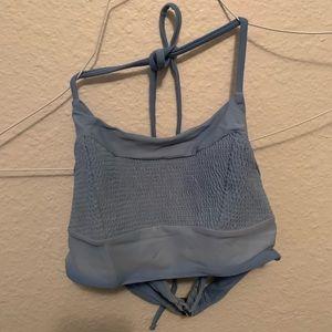 blue bathingsuit top